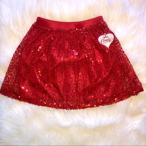 Red Sequin Skirt ❤️ NWT ❤️ size XL 16